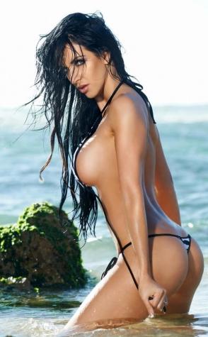 Sea black string bikini
